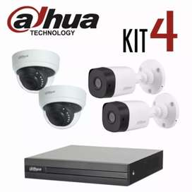 Kit 4 Camaras de Seguridad