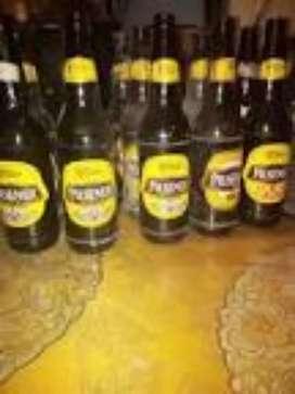 Se vende botellas vacias de cerveza pilsener normales y litrona