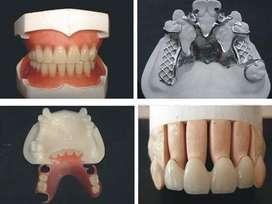 prótesis dentales con diseño reparaciones,cambio coronas porcelana,zirconio flexibles a domicilio