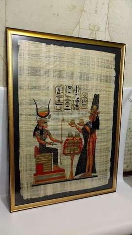 Cuadro de Papiro Antiguo Egipcio Ofrenda