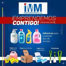 Imprenta y publicidad Cajas y adhesivos para comida, belleza, farmacéuticos, papelería de oficinas