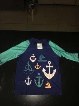 Camisa de playa para niño de 18 mese