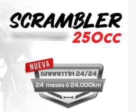Moto Daytona Scrambler 250 Año 2021 Matricula Casco