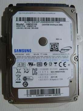HDD Samsung 320GB SATA 2.5 Notebook Para Reparar O Repuestos