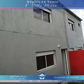 Dúplex en Venta en Villa Mitre