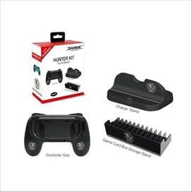 Combo X3pcz Control Grip Estante Carga Stand Juegos Nintendo