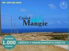 El sueño de tener su casa en la playa hágalo realidad ventas de lotes totalmente urbanizados con  vista del mar /SD3