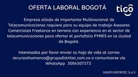 ASESORES COMERCIALES  - BOGOTA