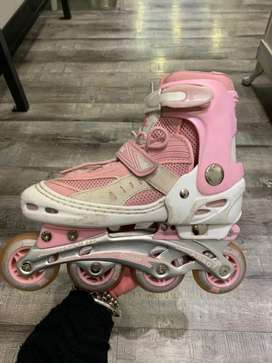 Rollers color rosa y blanco