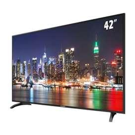 "Smart tv de 42"" marca Sankey."