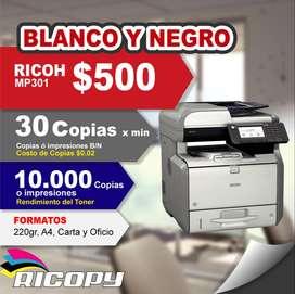 Copiadora Impresora Ricoh Mp301 B/n Oferta