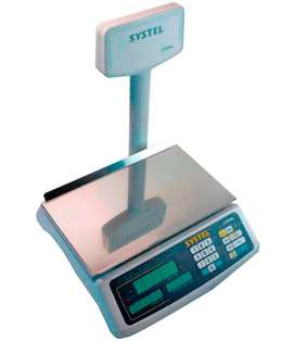Balanza comercial digital Systel Croma 31kg con mástil nuevas oferta!!