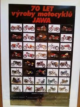 Poster Motos Jawa 350 en Lona 1.00 X 0.6