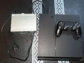 PS. 4 slime excelente estado. 500 GB, 1 joystick original y 5 juegos fsicos.
