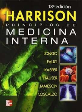 Libro de Medicina. Principios de medicina interna Harrison, Ed. 18 Vol 1 y 2