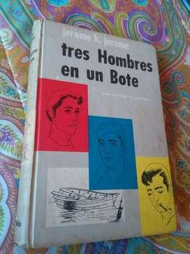 Tres hombres en un bote . Jerome K Jerome . Libro Hachette 1954 Tapa dura