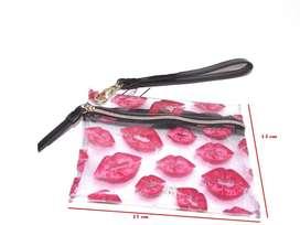 Victoria Secret cartuchera de viaje transparente con Labios Rojos