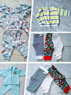 Lote de ropa para bebé varoncito primeros meses en excelente estado marca Grisino