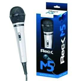Microfono De Mano Reck M5 Con Cable 2mts Dinamico