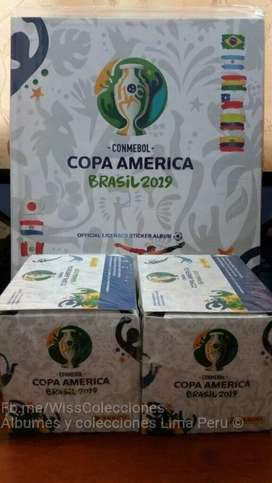 Álbum Copa América Brasil 2019 Panini Caja 50 sobres Original*