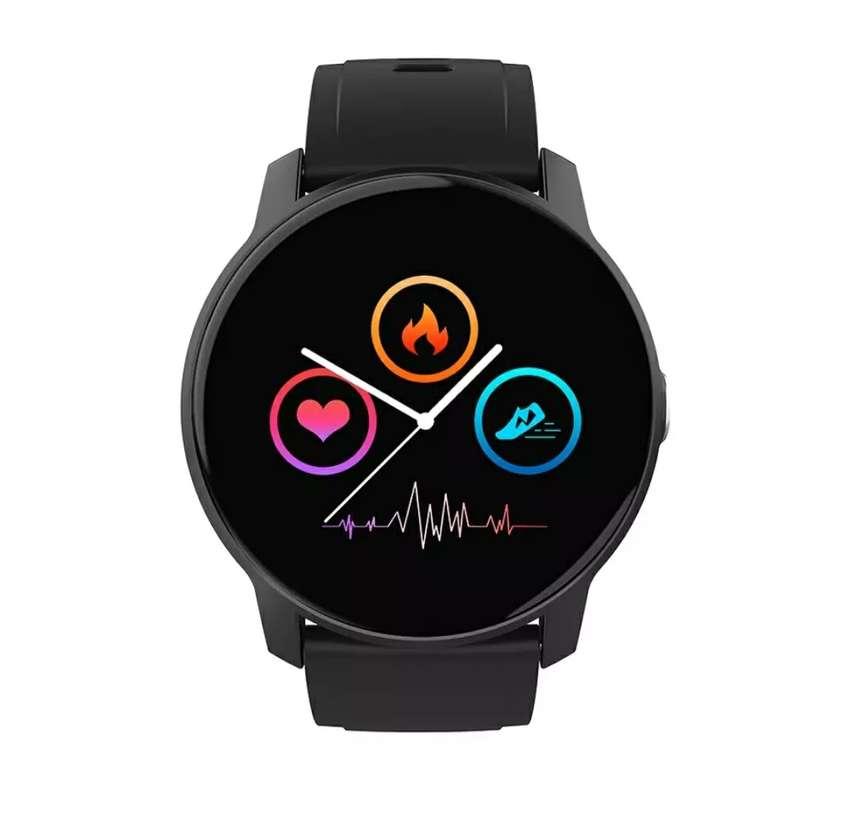 Reloj inteligente Bluetooth W9 2021 para dama o caballero redondo Manilla intercambiable 0