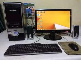 Computadora AMD Athlon Il y monitor LG de 19