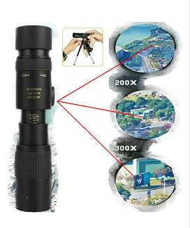 4k 10-300x40mm Monocular Super Zoom Telescopio Dia Noche
