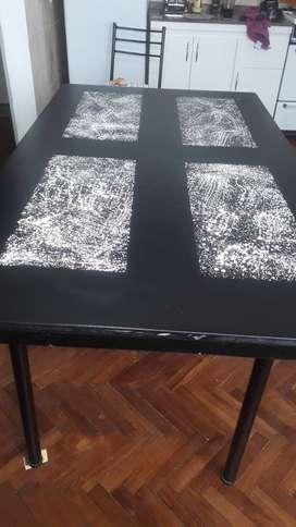 mesa para cocina y sillas imperdible