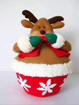 Muñeco Navidad - Reno Navideño Bombonera