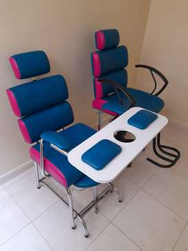 silla de peluquería y silla de manicura
