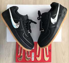 Tenis Nike Air forcé one Travis Scoot dama y caballero