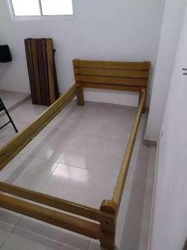 Cama de 1 metro - Madera Pino