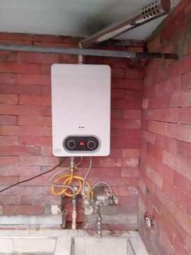 Mantenimiento e instalación de calentadores de agua a gas