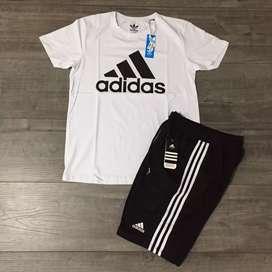 Conjunto Deportivo Camiseta Pantalóneta Adidas