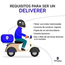 Se requiere motorizados que vivan y conozcan los sectores de Cumbaya y Valle de los Chillos