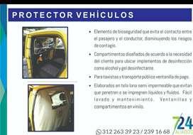 División para Taxi y particular protector