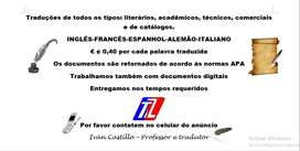 Intérprete de Alemán, Portugués, Italiano y Francés para eventos y Conferencias en Línea. Traducciones todo tipo.