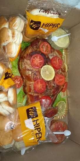 PERNILES!! 6kg más 50 panes y 3 salsas. $2700