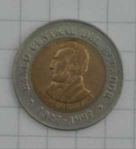 Moneda Ecuador 100 Sucres (1997)