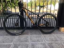Bicicleta venzo atix equipada