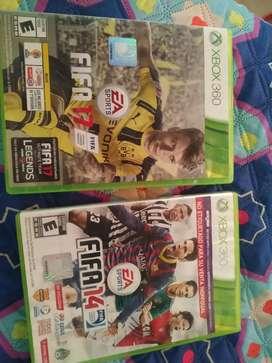 FIFA 14 y FIFA 17  Xbox 360