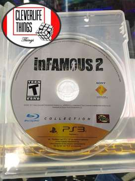 INFAMOUS 2 JUEGO ORIGINAL USADO OFICIAL PLAY 3 STATION PLAY CON MANUAL