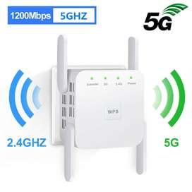 Repetidor De Señal Wifi Amplificador 1200mbps 5g - 2.4g Wps