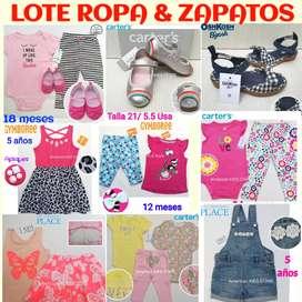 LOTE ROPA & ZAPATOS CARTERS OSHKOSH NUEVO para Bebes Niños