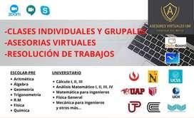 Clases de matemática física química profesor UNI - Asesores Virtuales UNI