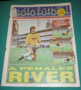 antigua REVISTA SOLO FUTBOL 188 COMIZZO HEROE EN LA BOMBONERA RIVER BOCA PENALES .SEL ARGENTINA U19