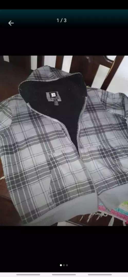 Campera XL hombre con corderito y capucha 0