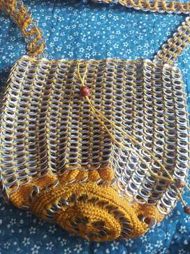 Bolso material reciclable