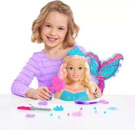 Barbie sirena peinados medio cuerpo