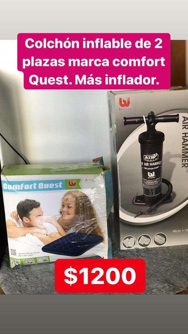 Colchon inflable comfort Quest 2 plazas, mas inflador 0